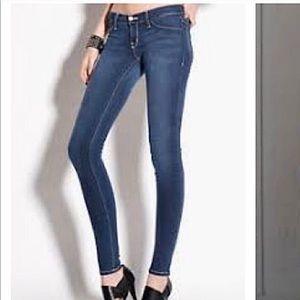 FLYING MONKEY Denim Jeans 26 Raw Hem Medium Blue